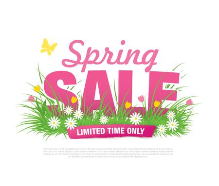 総: 春販売ポスター、ベクトル イラスト