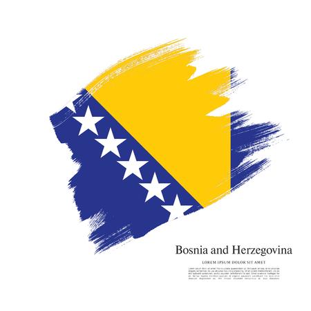 Flag of Bosnia and Herzegovina, brush stroke background
