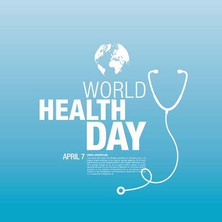 world health day concept poster Vetores