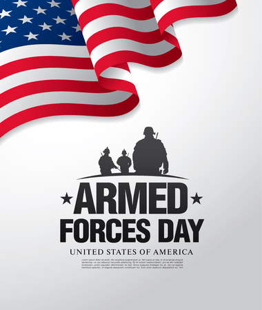 soldiers: Armed forces day template poster design
