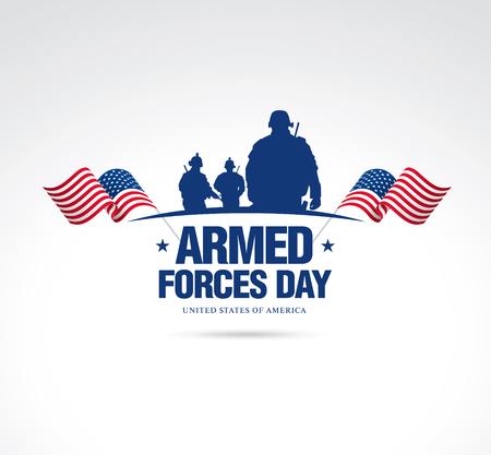 Streitkräfte-Tag-Vorlage Plakatentwurf Standard-Bild - 76094138