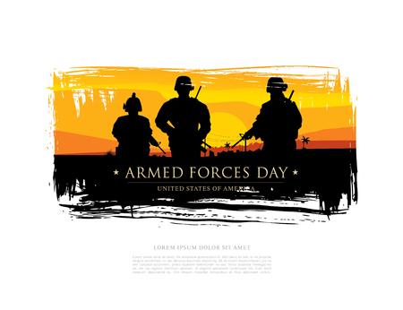 Streitkräfte Tagesschablonen-Plakatentwurf. Standard-Bild - 76171061