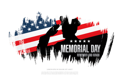 soldiers: Memorial day. Remember and honor. Vector illustration
