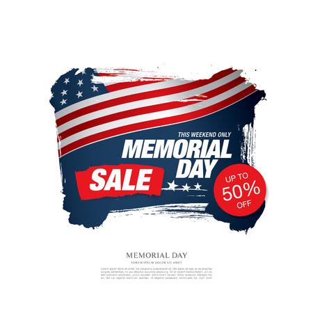 half price: Memorial day sale banner