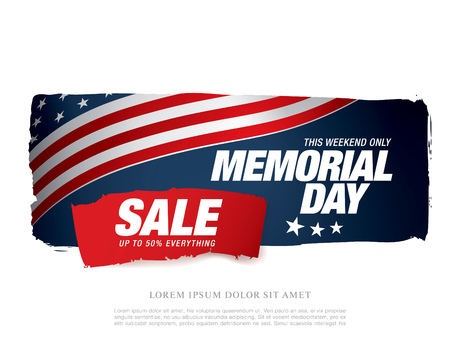 discount banner: Memorial day sale banner