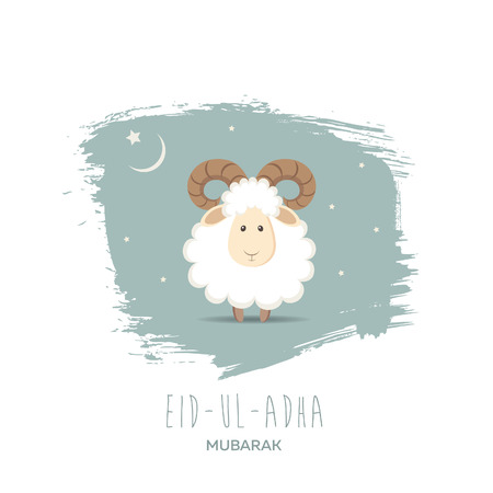 bayram: Greeting card for Muslim Community Festival of Sacrifice Eid-Ul-Adha. Vector illustration