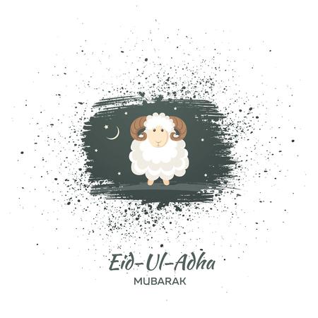 Greeting card for Muslim Community Festival of Sacrifice Eid-Ul-Adha. Vector illustration Stok Fotoğraf - 76466346