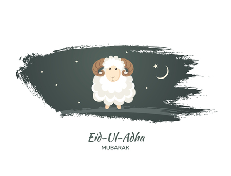 post: Greeting card for Muslim Community Festival of Sacrifice Eid-Ul-Adha. Vector illustration
