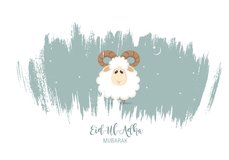 bayram: Greeting card for Muslim Community Festival of Sacrifice Eid-Ul-Adha. Illustration