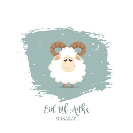 Wenskaart voor het Moslim Gemeenschap Festival van Offer Eid-Ul-Adha.