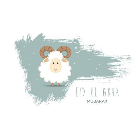 Greeting card for Muslim Community Festival of Sacrifice Eid-Ul-Adha. Vector illustration Stok Fotoğraf - 76346526