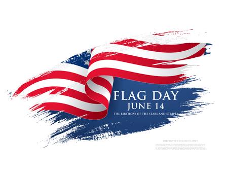 Jour du drapeau aux États-Unis, illustration vectorielle