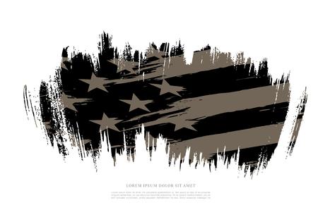Flag of the United States, brush stroke background