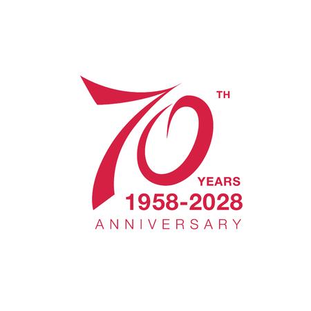 70 주년 상징. 70 주년 축하 상징