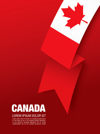 First of July Canada Day, vector illustration Illustration