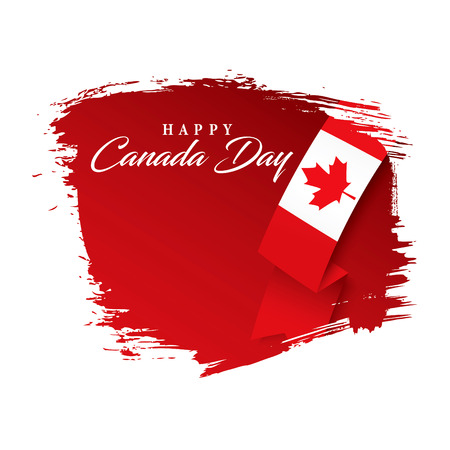 canadian flag: First of July Canada Day, vector illustration Illustration