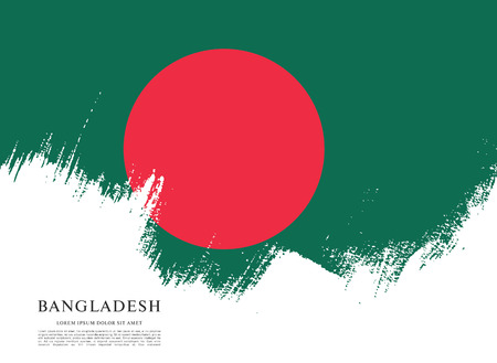 Flag of Bangladesh, brush stroke background