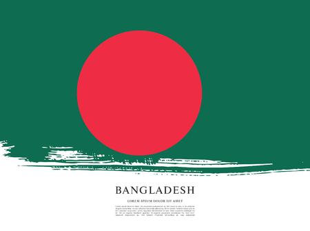 socialist: Flag of Bangladesh, brush stroke background