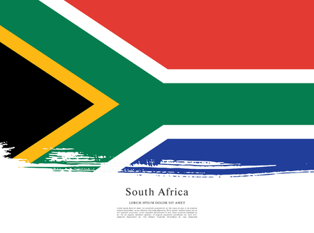 Flag of South Africa brush stroke background