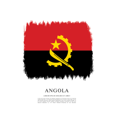 Flag of Angola brush stroke background