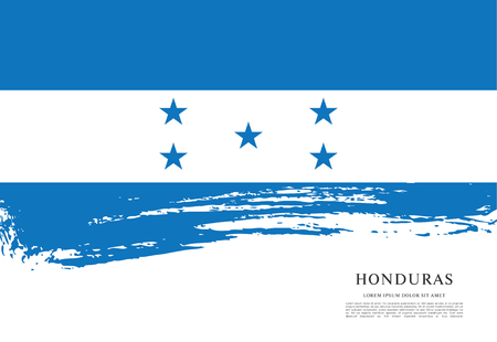 Flag of honduras 矢量图像