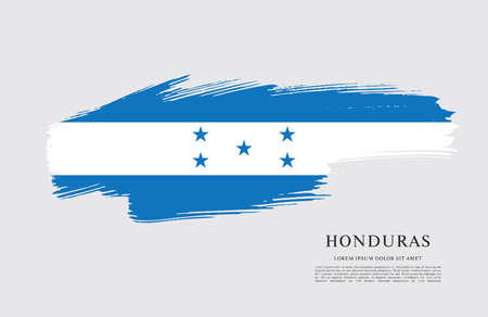 Flag of Honduras brush stroke background