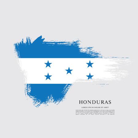 Flag of Honduras brush stroke background