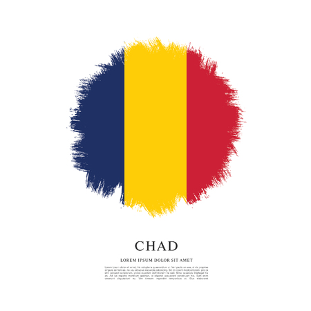 Flag of Chad, brush stroke background