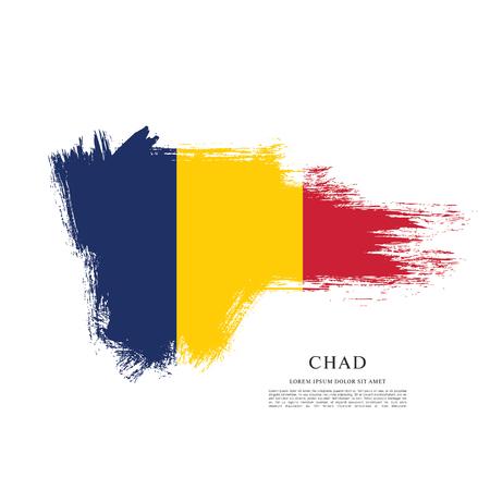 Flag of Chad brush stroke background