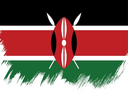 Flag of Kenya brush stroke background