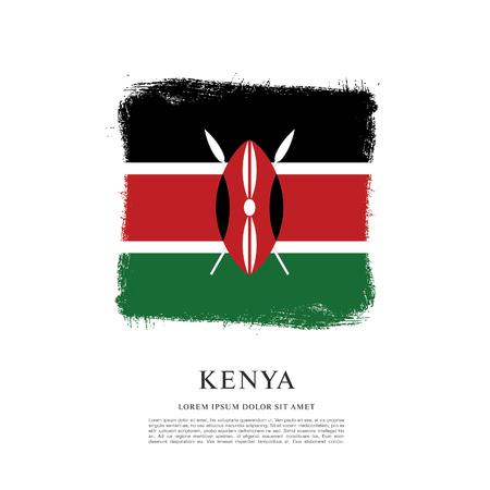 Bandiera del Kenya sullo sfondo del tratto di pennello