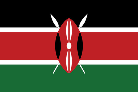 Flag of Kenya brush stroke background