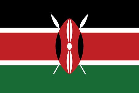Flag of Kenya brush stroke background 免版税图像 - 126451961