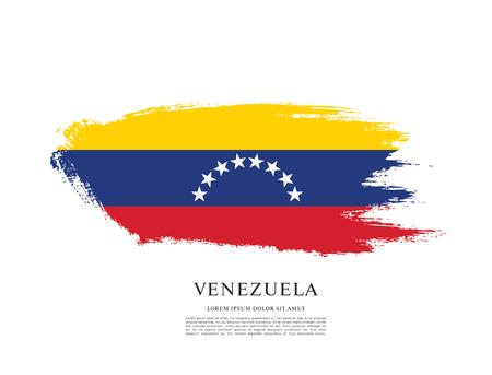Flag of Venezuela, brush stroke background