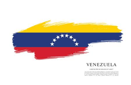 politicians: Flag of Venezuela, brush stroke background