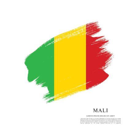 flag of Mali, vector illustration