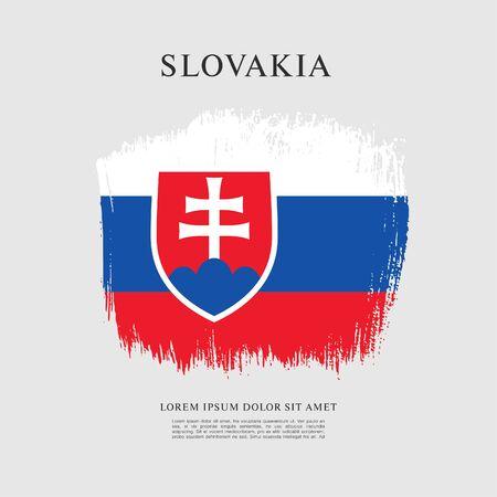Flag of Slovakia, brush stroke background