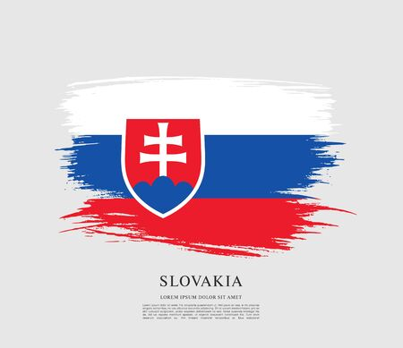 Flag of Slovakia, brush stroke background