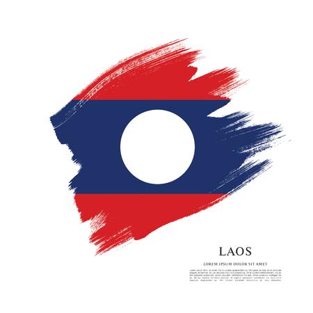 politicians: Flag of Laos, brush stroke background