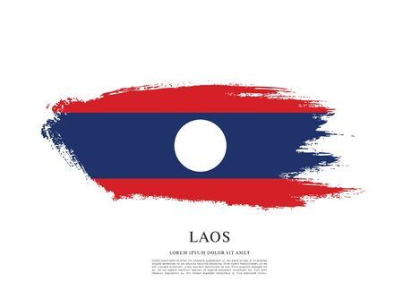 Flag of Laos, brush stroke background