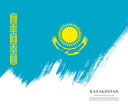 A Vector illustration design of Kazakhstan flag layout. Illustration