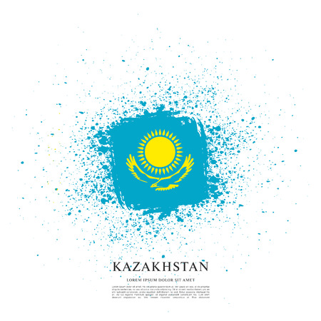 Vector illustration design of Kazakhstan flag layout Illustration