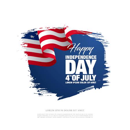 7 월 4 일 독립 기념일. 벡터 일러스트 레이 션