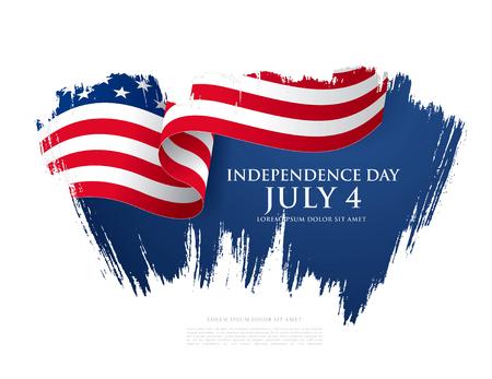 Vierde juli Onafhankelijkheidsdag. Vector illustratie