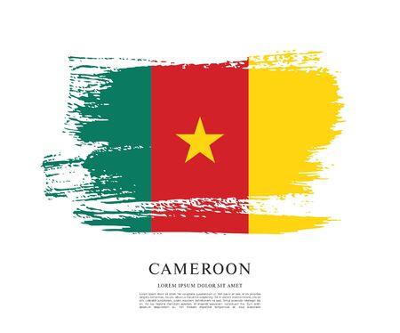 Flag of Cameroon, brush stroke background