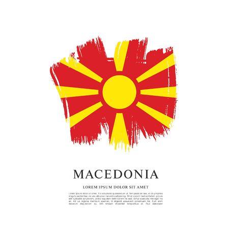 Flag of Macedonia, brush stroke background