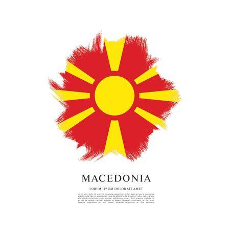 Flag of Macedonia, brush stroke background Standard-Bild - 139721870