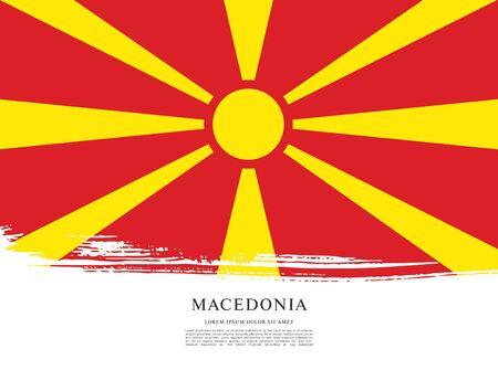 Flag of Macedonia, brush stroke background Standard-Bild - 139721942