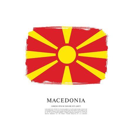 Flag of Macedonia, brush stroke background Standard-Bild - 139721759