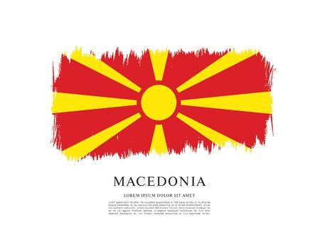 Flag of Macedonia, brush stroke background Standard-Bild - 139721767